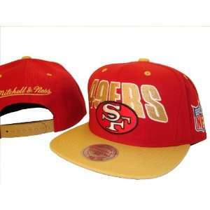 Red & Gold San Francisco 49ers Adjustable Snap Back Baseball Cap Hat