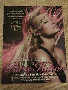 2007 PARIS HILTON ADVERTISEMENT DREAM CATCHERS AD HAIR