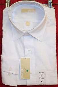 Micheal Kors Mens Dress Shirt White w/Pin Stripes NWT