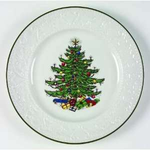 Cuthbertson Dickens Embossed Christmas White Dinner Plate