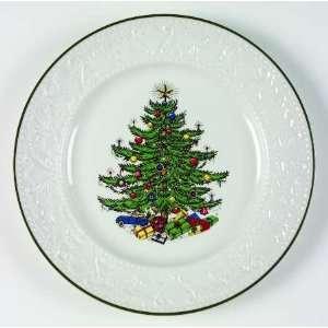 Cuthbertson Dickens Embossed Christmas White Dinner Plate