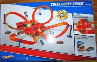 HOT WHEELS CRISS CROSS CRASH TRACK SET MOTORIZED FOR SPEED