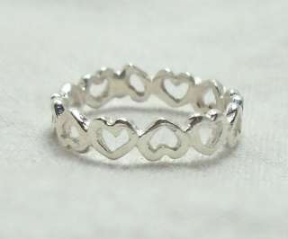 Child Baby Sterling Silver Eternity Heart Ring SZ 2 r34