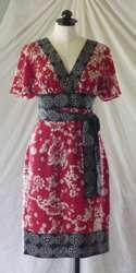 MICHAEL KORS  graphic brown print  sleeveless KNIT dress  XS