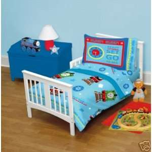THOMAS TRAIN 4pc TODDLER BEDDING SET, New, Boy, Crib