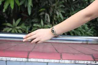 Classic Black Two Tone Crystal Women Quartz Watch NI52