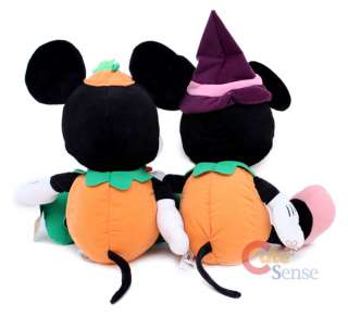 Disney Mickey Minnie Mouse Plush Doll Halloween Pumkin 2