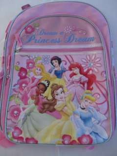 Disney Princess dream backpack book bag pink large new