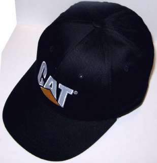 All Black CAT BaseBall Cap Caterpillar Promo Hat Lot 24