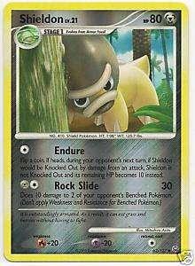 Pokemon Platinum Card 62/127 Shieldon Reverse Holo Foil
