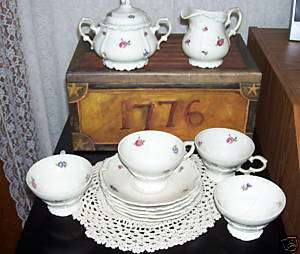 SET EDELSTEIN BAVARIA TEA SET CUPS SAUCERS SUGAR CREAM