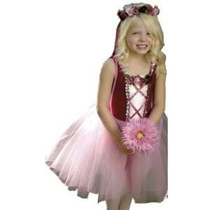 Elegant Burgundy Rosetta Princess Dress Child Costume