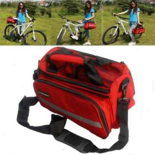 New Red Cycling Bike Travel Bicycle Rear Seat Pannier Bag Pouch With