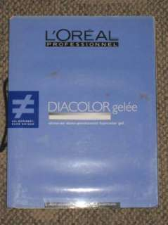 OREAL Professionnel DIACOLOR GELEE Hair Color Swatch Book VCG |