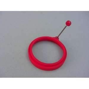 Silicone Egg Pancake Ring Round Red