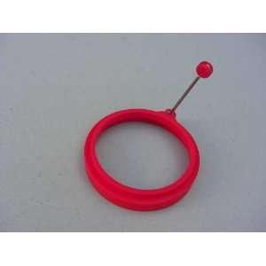 Silicone Egg Pancake Ring Round Red