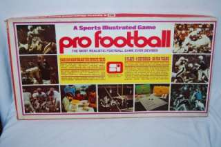 Vintage SPORTS ILLUSTRATED GAME Pro Football NFL Team charts
