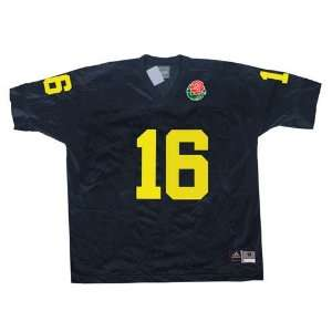 Adidas Michigan Wolverines #16 Navy 2004 Rose Bowl Replica