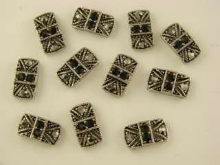 Marcasite Tablets Made with Hematite Swarovski Crystal Elements