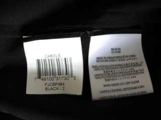 NEW$258 BCBG MAX AZRIA CAROL STRAPLESS SEQUINED Cocktail DRESS Black