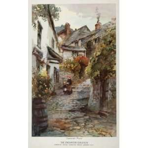 Print Village Street Engravers Guild   Original Print