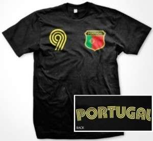 Portugal Flag Shield T Shirt Jersey Portuguese Soccer
