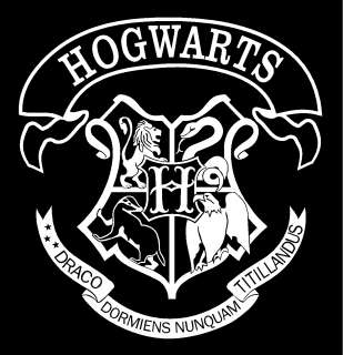 Harry Potter Hogwarts School Crest Vinyl Car Window Decal Sticker