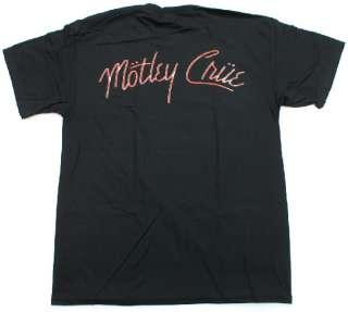 MOTLEY CRUE Girls Girls Girls Album T Shirt Rock & Roll Music Black