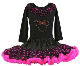 Pettiskirt Outfit * New * Inc Shirt w Hot Pink Polka Dots Pom