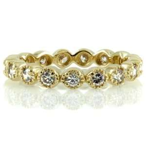 Ericas Vintage Rings   CZ Eternity Band   Gold FINAL SALE