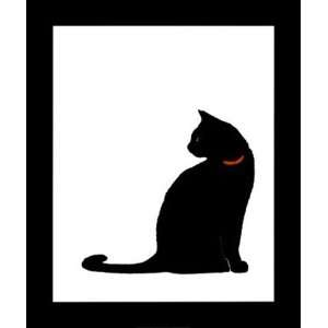 Lens Single Black Cat 20 x 24 Poster Print: Home & Kitchen