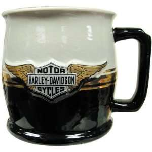 Harley Davidson Bar & Shield Logo w/ Wings Ceramic Mug
