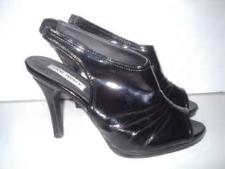 Steve Madden BLACK P CACIEE HIGH Heeled Shoes sz 10