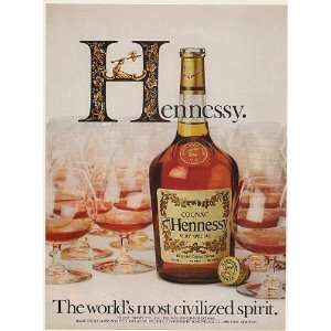 1982 Hennessy Cognac Bottle Glasses The Worlds Most