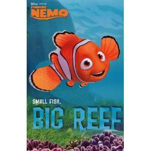 Finding Nemo (Small Fish, Big Reef) Movie Poster Print   24 X 36