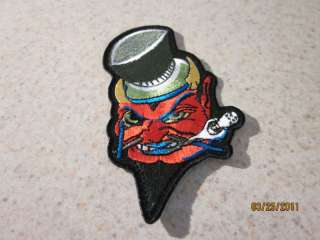 EVIL LEPRECHAUN P14 MOTORCYCLE iron on BIKER PATCH NEW