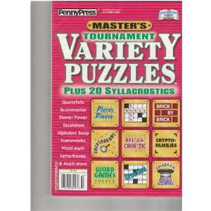 (Masters Tournament Variety Puzzles, Autumn 2010) various Books