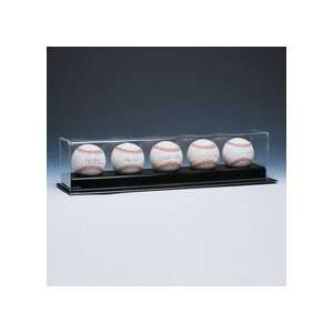 Deluxe Collectors 5 Ball Display Case: Sports & Outdoors