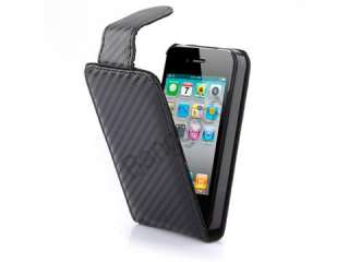 Magnetic Flip Leather Case Pouch Cover For iPhone 4 4S 4G *BLACK
