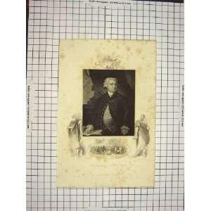 C1790 C1900 Antique Portrait Charles James Fox Gordon