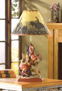 Western Cowboy Themed HORSE LAMP Desk Reading Decor NEW