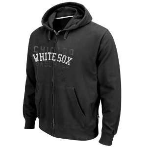 Sox Black Fiery Fastball Full Zip Hoodie Sweatshirt