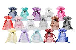 Personalised Wedding Favour Candles Silver Heart Charm
