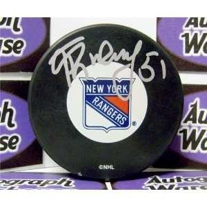 Fedor Tyutin Autographed/Hand Signed New York Rangers Hockey Puck