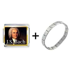 Gold Plated Music J.s.bach Photo Italian Charms Pugster Jewelry