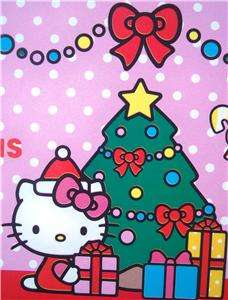 NEW* CHRISTMAS HELLO KITTY gift wrap paper PARTY
