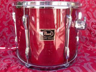 PEARL EXPORT SERIES 13 RACK TOM DRUM IN RED WINE LACQUER LOT #J28