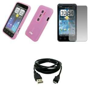 EMPIRE Pink Silicone Skin Case Cover + Screen Protector