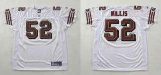 AUTHENTIC SAN FRANCISCO 49ers PATRICK WILLIS WHITE JERSEY 54