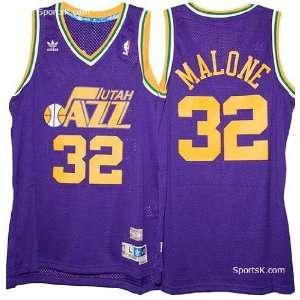Utah Jazz Karl Malone Throwback Jersey (Purple) Sports